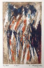 Robert LAPOUJADE (1921-1993) Belle Gravure Signée de 1970 Art Abstrait NU