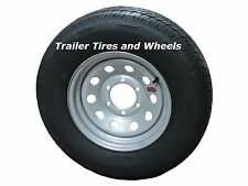 "225/75R15 LRE Rainier ST Radial Trailer Tire on 15"" 6 Lug Silver Mod Wheel"