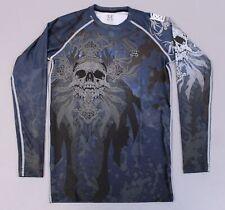 Fixgear Men's Long Sleeve Compression Base Layer T-Shirt MC7 Black Medium NWT