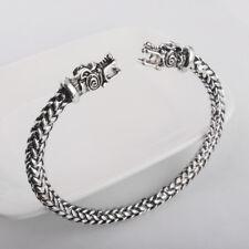 Vikings SILVER Sacred Arm Ring Replica Bracelet Viking Norse 2 Headed Wolf NEW!
