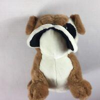 "Plush Bulldog VTG Stuffed 12"" Toy Sitting Puppy Dog Collectible ASI Kids 80s 90s"