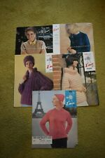Emu 5 X Vintage Knitting Patterns - Ladies Wear Jacket Jumper Cardigan Slipover