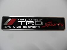 TRD Toyota Racing Development Motorsport Aufkleber 3D Alu Sticker Emblem, Neu