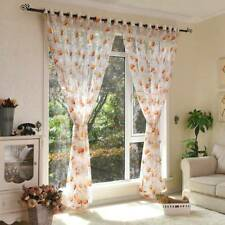 1PC Modern Yellow Floral Tulle Curtains for Living Room Bedroom Kitchen  Curtain