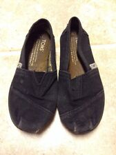 Toms Black Canvas Girls Youth Size 12 Preowned