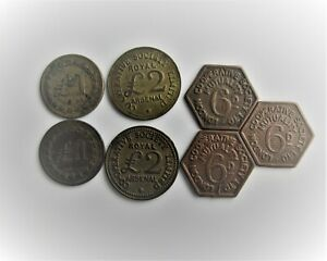GROUP OF CO-OP SOCIETY TOKENS / SNIFF'S  ANCIENT COINS T-3