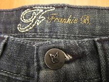 AUTH FRANKIE B CHAIN LINK F POCKETS BOOT CUT WOMEN JEANS SZ 2 X 29.5 VIC-THOR1