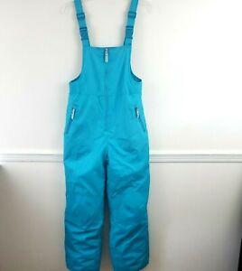 Champion C9 Girls Snow Ski Bib Overalls Snow Suit Pants Size XL 14/16 Turquoise