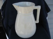 Antique Homer Laughlin Pitcher-1897-1904 Eagle Over Lion Mark-Stone China-12in.T