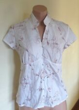 Classic Crushed-look Embroided Shirt. Ladies Size 8. Brand New! RRP $34.99