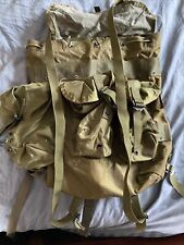 Military Rucksack Alice Pack Nylon Medium Lc-2 Green Us Stamped With Straps