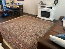 Semi-Antique Turkish Wool Hand-Knotted Rug ca. 1910
