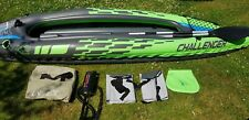 Intex K2 Challenger 2 Man Person Inflatable Kayak Canoe Oars Pump Dinghy Boat