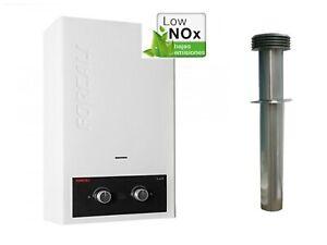 Static Caravan Forcali 10L LPG Water Heater With Flue Kit Replaces Morco G11e,