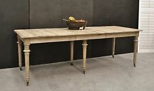 French Provincial Country Chic Hamptons Style Oak Extension Dining Table
