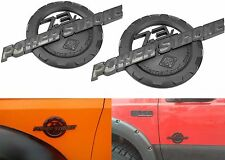 PAIR Black 7.3 Powerstroke Emblems 6.7 Style For Ford F250 F350 New Free Ship