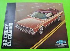 1982 CHEVROLET EL CAMINO COLOR CATALOG Brochure w/ SS Super Sport nr-MINT