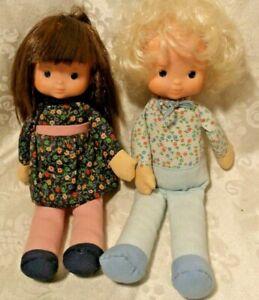 """1978 FISHER PRICE 10"""" MY FRIEND BOBBIE & MUFFY DOLLS"""