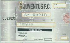 68476 - Vecchio  BIGLIETTO PARTITA CALCIO Champions -  1996: JUVENTUS / SK RAPID