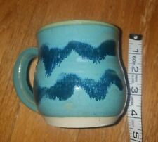 Handcrafted Teal/Aqua Pottery Coffee Mug