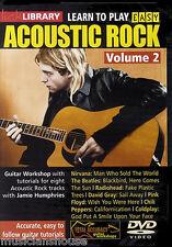 Lick library apprendre à jouer simple acoustic rock 2 tutor leçons chansons guitare dvd
