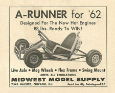 Vintage & Very Rare 1962 Midwest A-Runner Go-Kart Ad