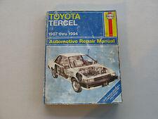 HAYNES #2106 Automotive Repair Manual Book For TOYOTA TERCEL 1987-1994