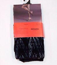 MISSONI for TARGET Fishnet OPENWORK Pantyhose TIGHTS Shiny S/M EBONY