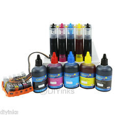 CISS & Ink Set For HP Photosmart 6525 7520 7525 D7560 B8550 CIS