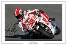 Marco Simoncelli signé photo autographe San Carlo Honda Gresini MOTO GP