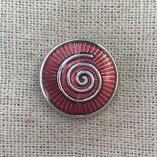 Noosa style chunk snap charm for leather cuff bracelet- Endless snake-red