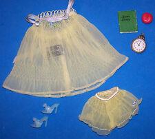 Vintage Barbie Yellow PJ's Pajamas SWEET DREAMS #973 Diary Clock 1959 - 1963