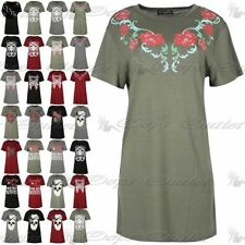 Embroidered Short Sleeve Floral Tops & Shirts for Women