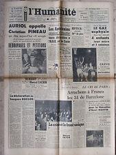 L'Humanité - (9 janv 1952) Auriol/Pineau -Au Siam - Crise et front unique-Martin