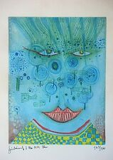 Friedensreich Hundertwasser, Farb Radierung 1974, signiert, 163/240, Meadowman
