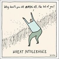 Wheat Intolerance Funny World Of Moose Humour Greeting Card Blank Inside