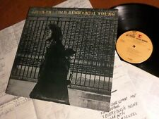 Neil Young ‎– After The Gold Rush 1970 Lp Vg+ Lyric Poster Southern Man