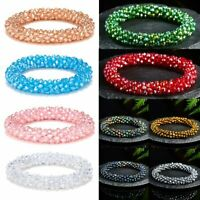 Hot Fashion Crystal Rhinestone Stretch Bracelet Bangle Wristband Jewelry Gift