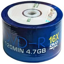 BLANK DVD RW DISCS 16X DVD-R 4.7GB AONE 120MIN 50 x SPINDLE PACK LOGO DATA DVDs