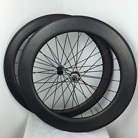 700C Dimple surface 45mm depth Carbon Fiber Dimple Wheel Tubular Wheelset