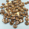 200pcs Brown Wooden Buttons Sewing 2 Holes Round Scrapbooking 13mm