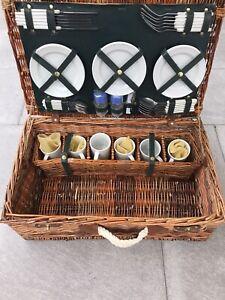 Picknickkorb Picknickkoffer Picknickset Weidenkorb Picknick Korb