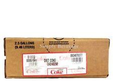 Diet Coke Soda Syrup Concentrate 2.5 Gallon Bag in Box SodaStream