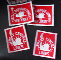 Lot of 4 Embroidered Railroad Uniform Patches Jersey Central Lines Railroad