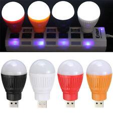 USB Mini LED Cool White Night Light Bulb for Portable Reading Flashlight HotF9