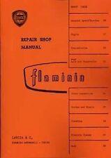 Lancia Flaminia 1968 Car Shop manual book catalogue Paper