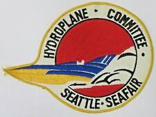 """1970 10"""" SEATTLE SEAFAIR COMMITTEE Hydroplane Race boat shirt jacket back patch"""