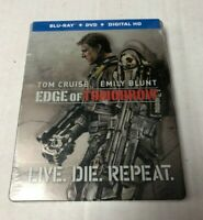 Edge Of Tomorrow LIVE. DIE. REPEAT. Blu-Ray DVD Digital Steelbook NEW Tom Cruise