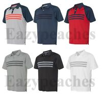 ADIDAS GOLF - Climacool  3-Stripes Polo, Men's Sizes S-3XL, Sport Shirt