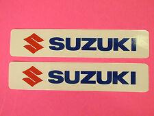 Two Suzuki Universal Tank Swingarm Fork Stickers Decals DR DRZ 400 Enduro Motard